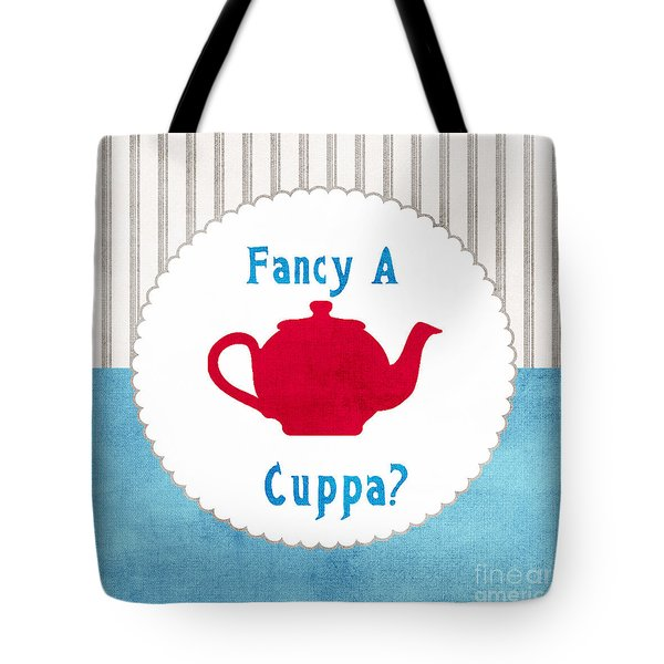 Red Teapot Tote Bag by Linda Woods