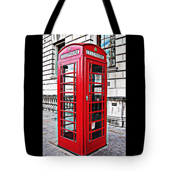Red Telephone Box Call Box In London Tote Bag