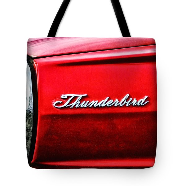 Red Thunderbird Tote Bag by Bill Cannon