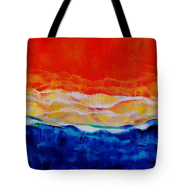 Red Tide Effect Tote Bag by Jean Cormier
