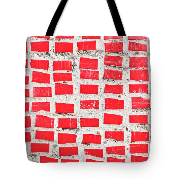 Red Tiles Tote Bag by Tom Gowanlock
