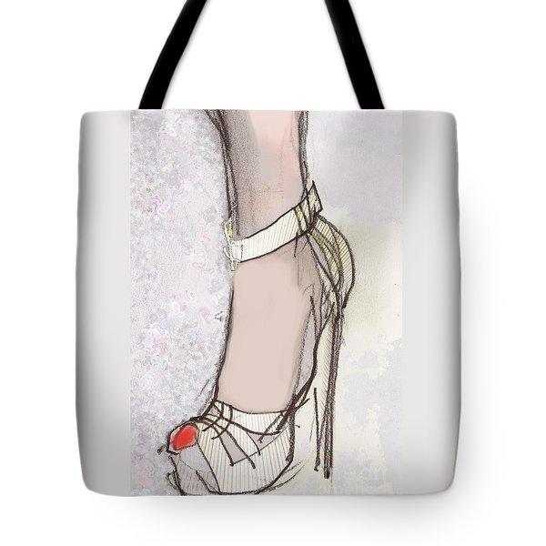Red Toe Shoe Tote Bag