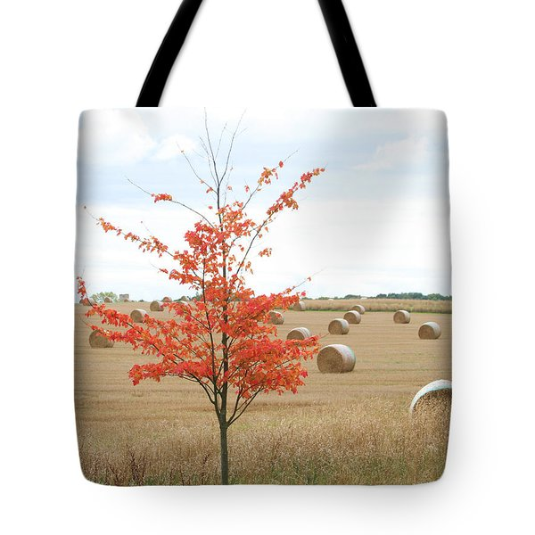 Tote Bag featuring the photograph Red Tree by Elizabeth Lock
