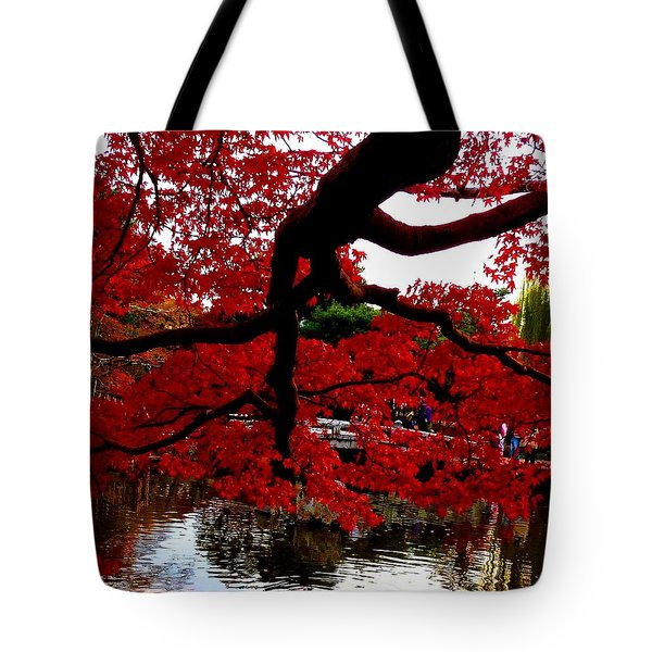 Red Tree Tote Bag by Julia Ivanovna Willhite