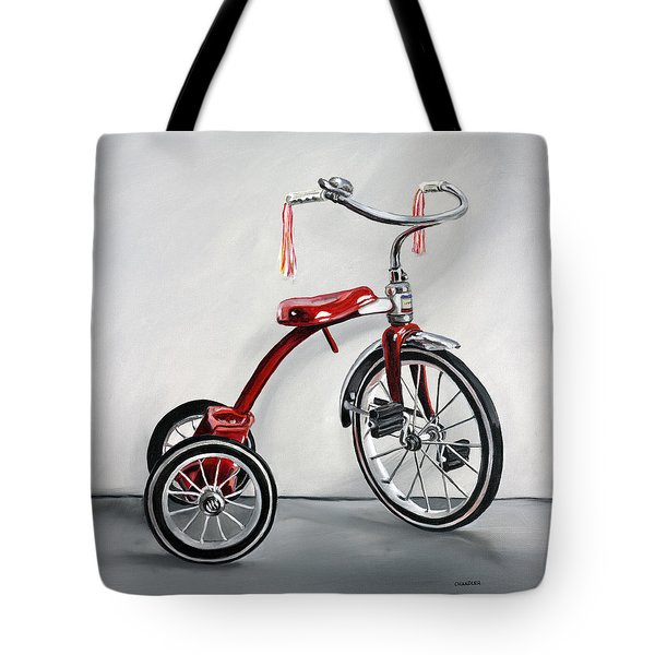 Red Tricycle 1 Tote Bag