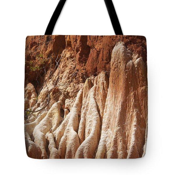 red Tsingy Madagascar Tote Bag by Rudi Prott