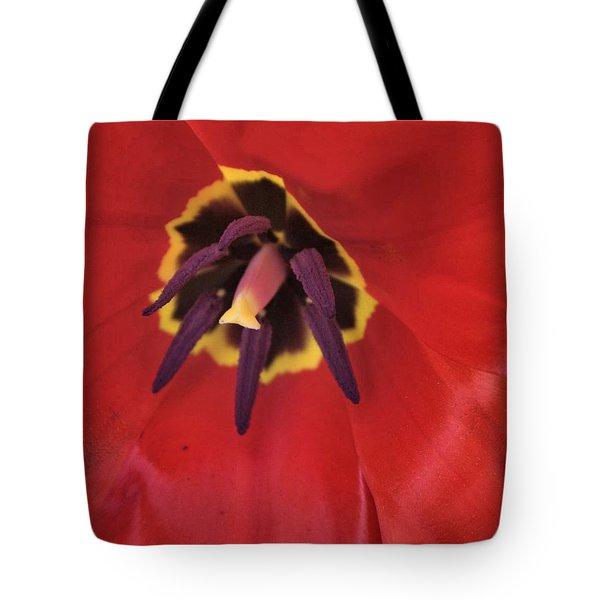 Red Tulip Detail Tote Bag