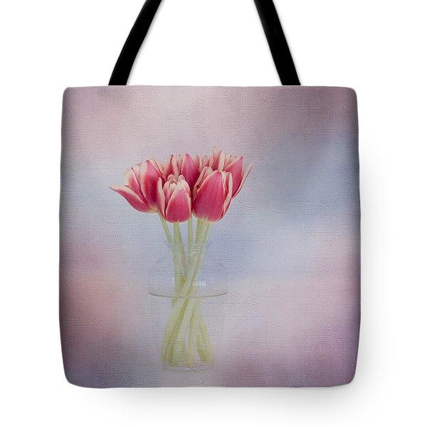 Red Tulip Still Life Tote Bag by Kim Hojnacki