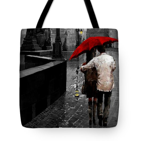 Red Umbrella 2 Tote Bag