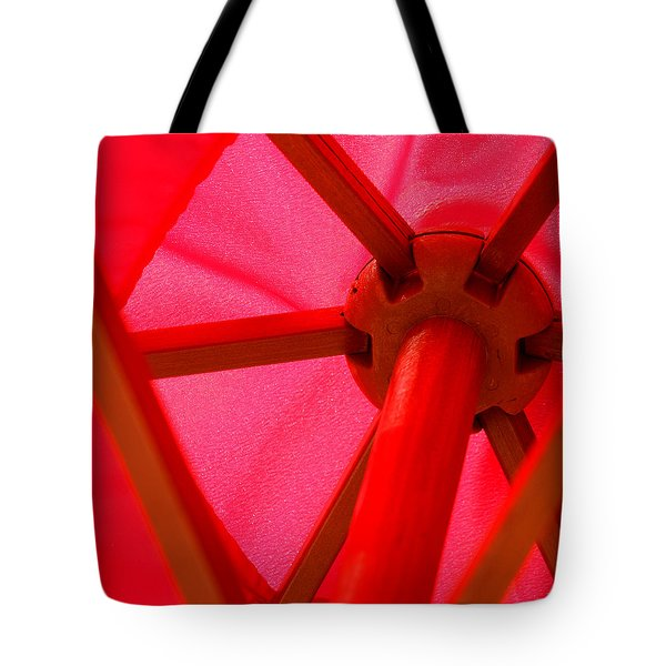 Red Umbrella Tote Bag by Art Block Collections