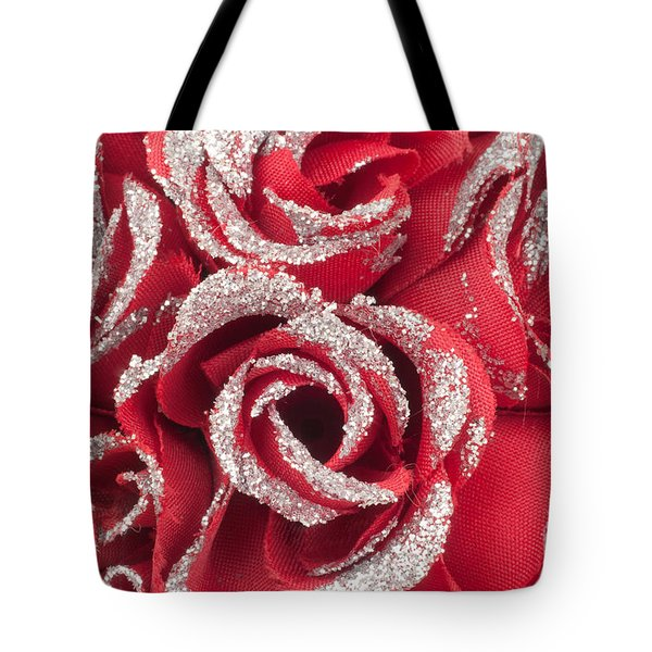 Tote Bag featuring the photograph Red Valentines Day Roses by Gunter Nezhoda