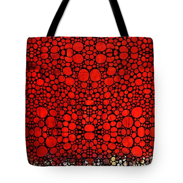 Red Valley - Abstract Landscape Stone Rock'd Art Tote Bag by Sharon Cummings