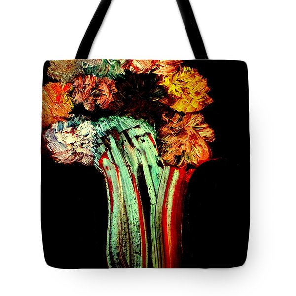 Tote Bag featuring the painting Red Vase Revisited by Bill OConnor