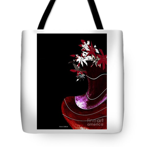 Red Vase Tote Bag