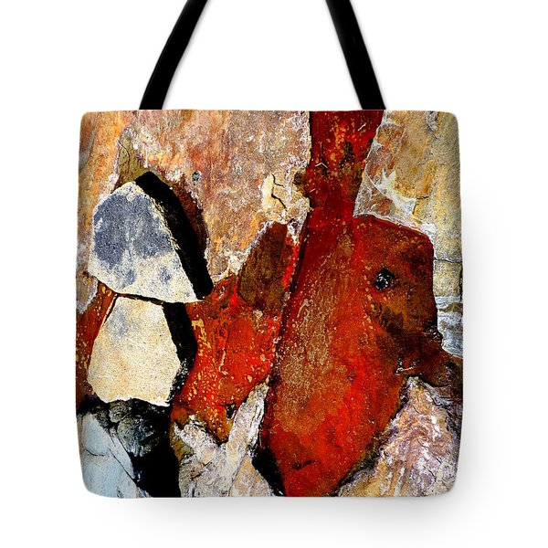 Red Veins Tote Bag