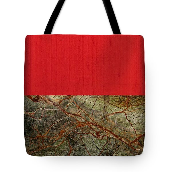 Red Veins Tote Bag by Margaret Ivory