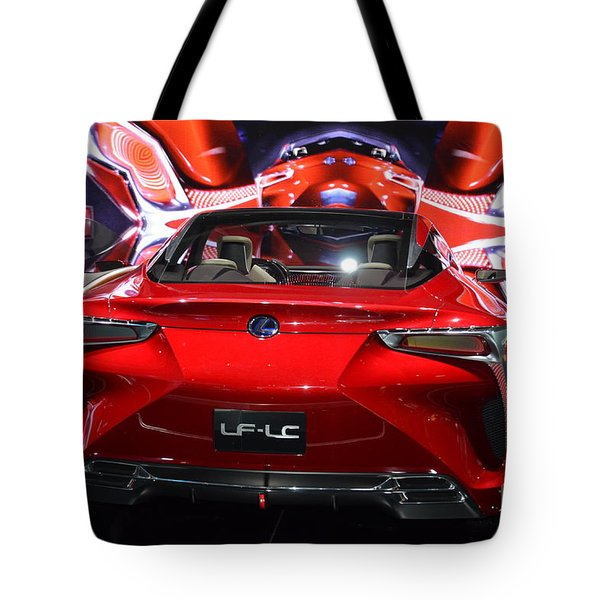 Red Velocity Tote Bag