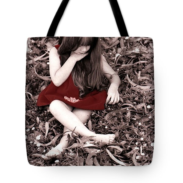 Red Velvet Dress Tote Bag