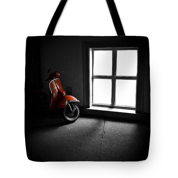 Red Vespa Tote Bag