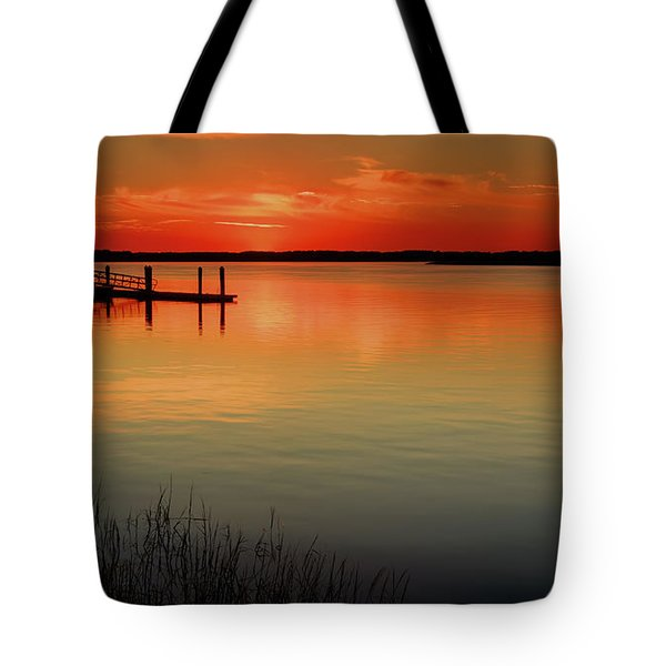 Red Water Tote Bag by Phill Doherty
