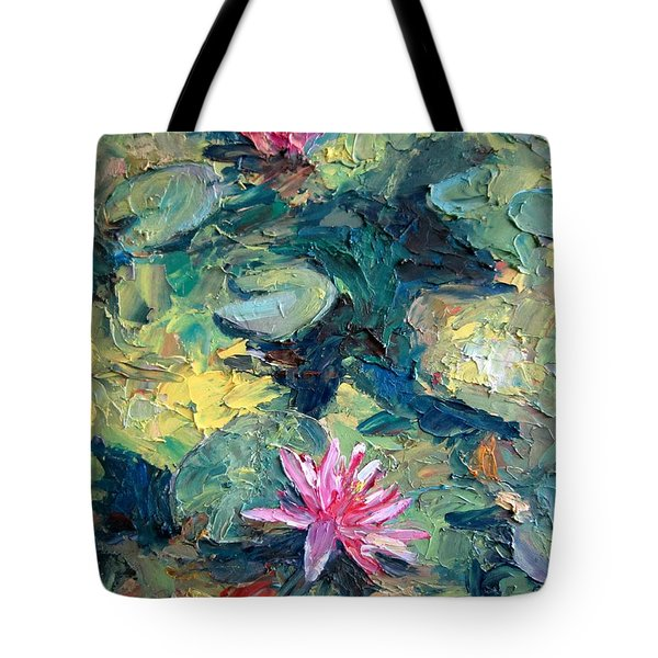 Red Waterlily  Tote Bag