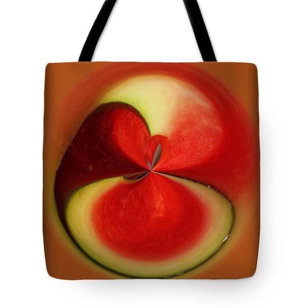 Red Watermelon Tote Bag by Cynthia Guinn
