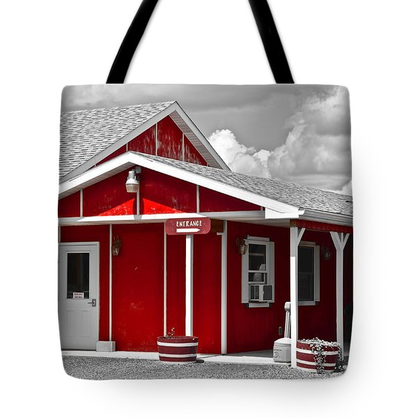Red White And Black Tote Bag by Frozen in Time Fine Art Photography