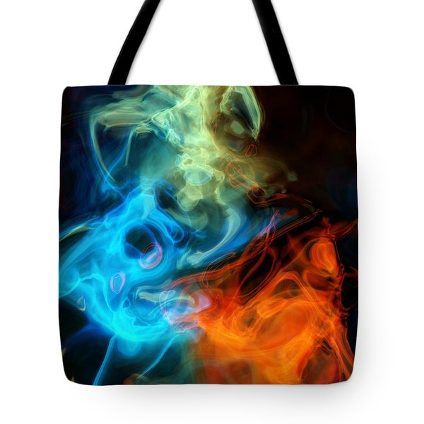 Red White And Blue Wispy Swirls Tote Bag