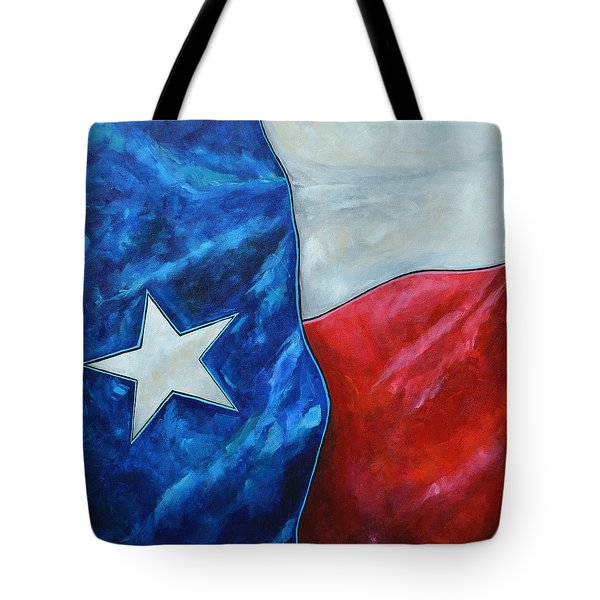 Red White And Texas Tote Bag