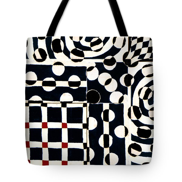 Red White Black Number 2 Tote Bag by Carol Leigh