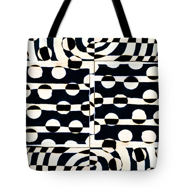Red White Black Number 3 Tote Bag by Carol Leigh