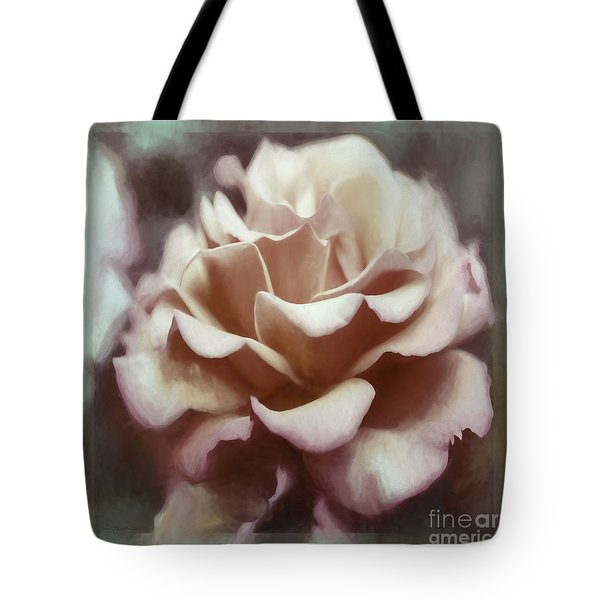 Tote Bag featuring the photograph Red White Rose by Jean OKeeffe Macro Abundance Art