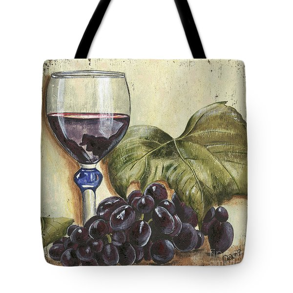 Red Wine And Grape Leaf Tote Bag