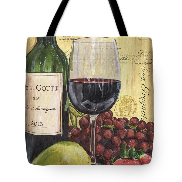 Red Wine And Pear Tote Bag