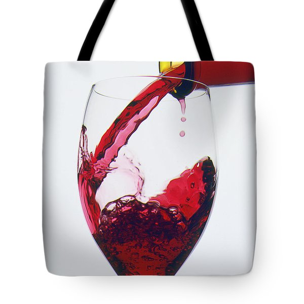 Red Wine Being Poured  Tote Bag by Garry Gay