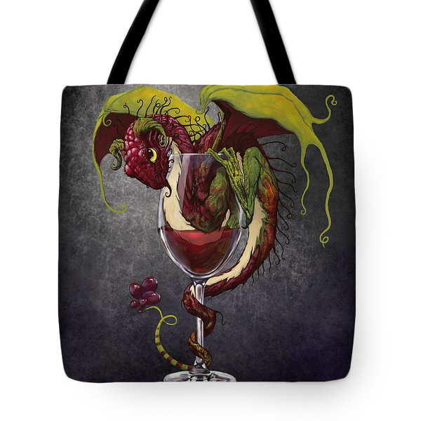 Red Wine Dragon Tote Bag