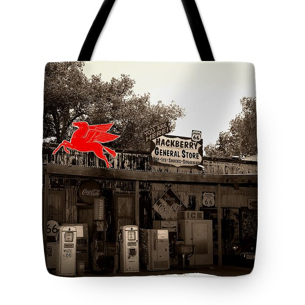 Red Winged Horse Tote Bag by Leticia Latocki
