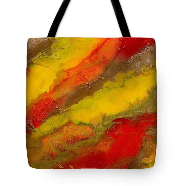 Red Yellow Gold Abstract Tote Bag