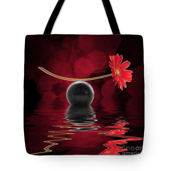 Red Zen Gerbera Tote Bag