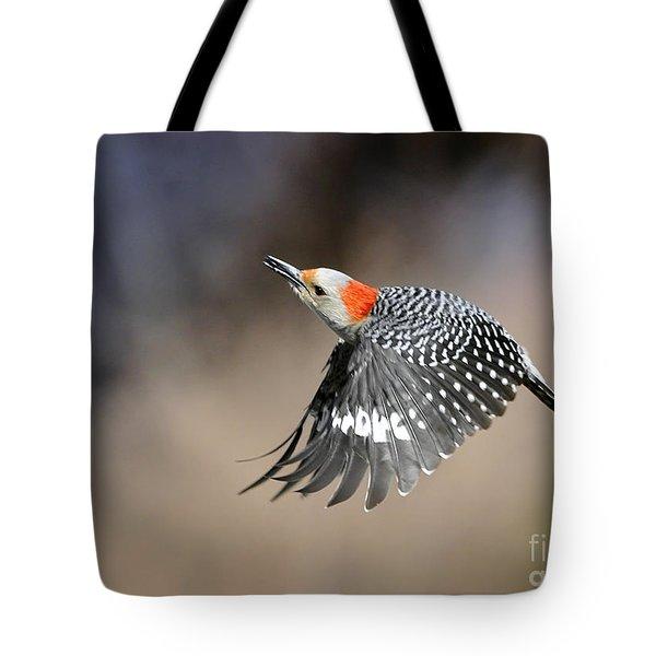 Redbelly Woodpecker Flight Tote Bag by Nava Thompson