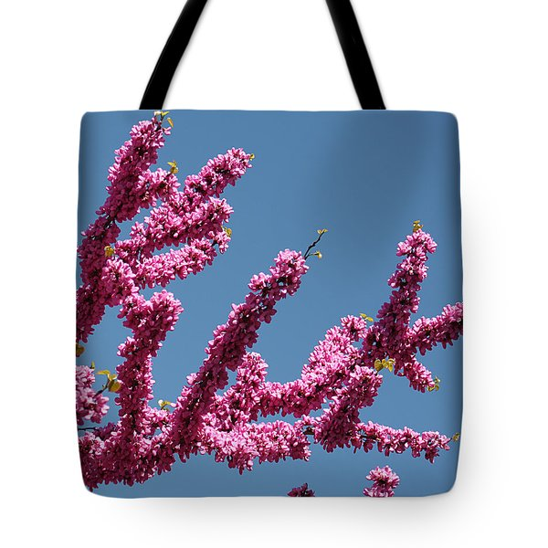 Redbud Against Blue Sky Tote Bag
