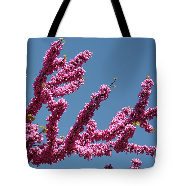 Redbud Against Blue Sky Tote Bag