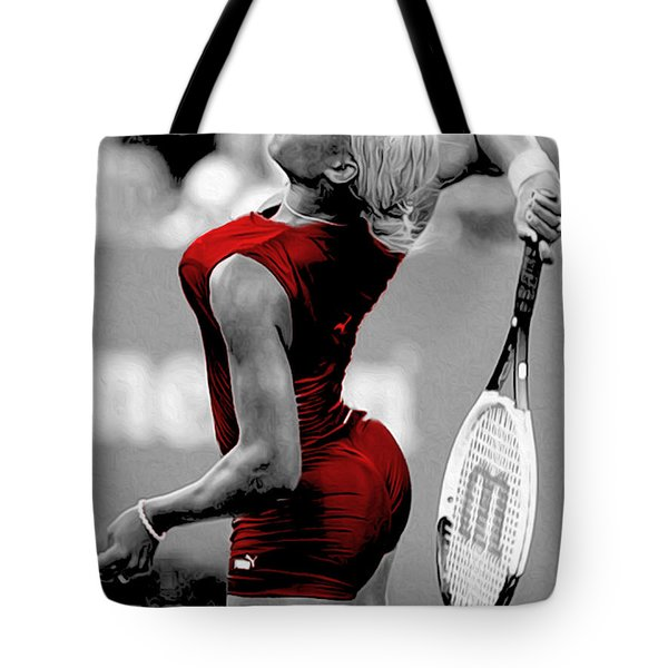 Tote Bag featuring the photograph Red Cat Suit by Brian Reaves