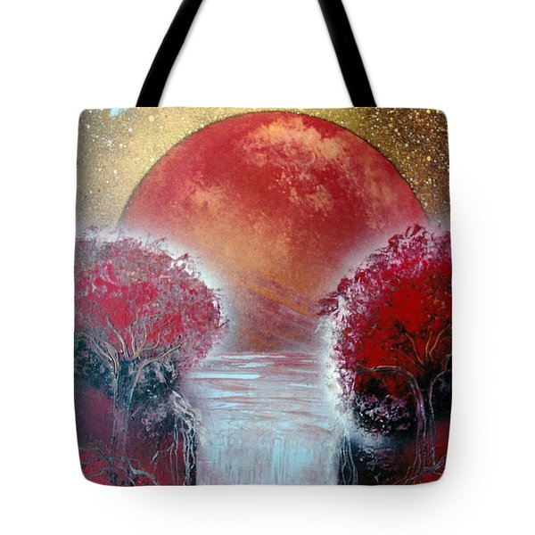 Tote Bag featuring the painting Redder by Jason Girard