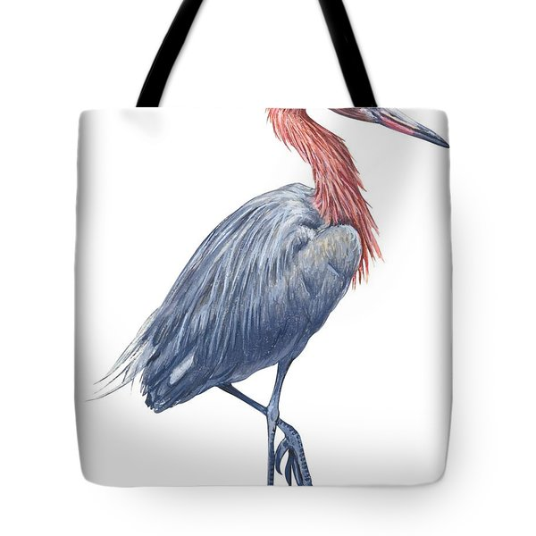 Reddish Egret Tote Bag by Anonymous