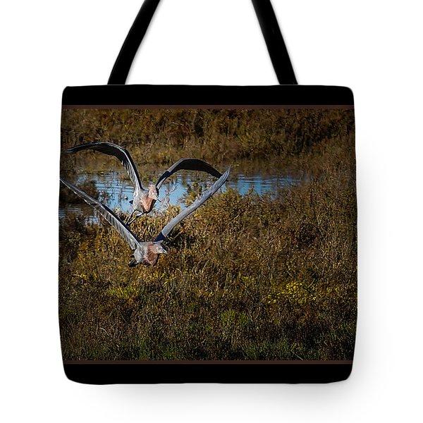 Reddish Egrets Tote Bag