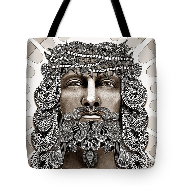 Redeemer - Modern Jesus Iconography - Copyrighted Tote Bag