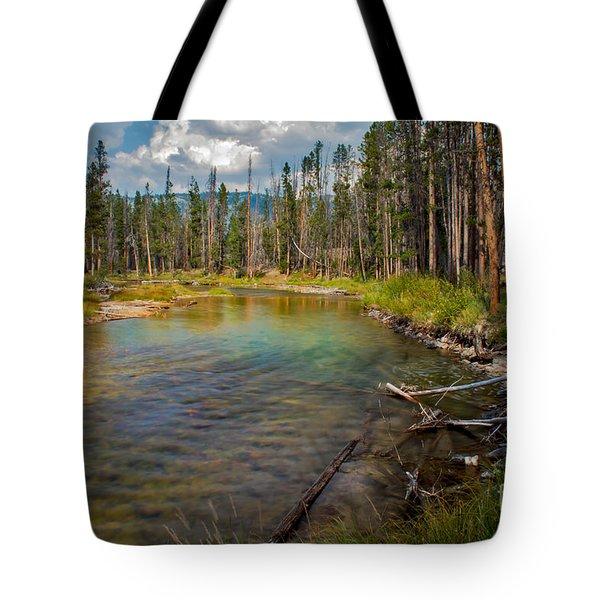 Redfish Lake Creek Tote Bag by Robert Bales