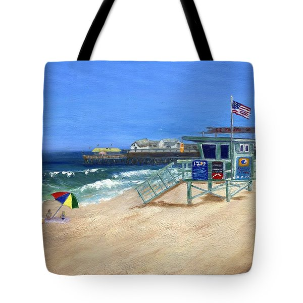 Redondo Beach Lifeguard  Tote Bag by Jamie Frier
