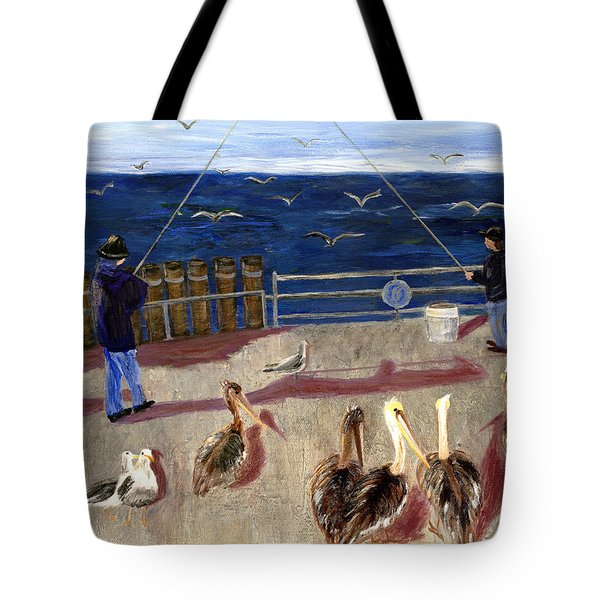 Redondo Beach Pelicans Tote Bag